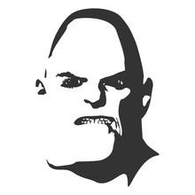 Demonic Ugly Face. Devil Character. Demon Or Monster Horror Face.