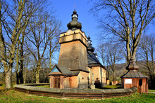 Orthodox Wooden Church In Hanczowa, Beskid Niski, Poland