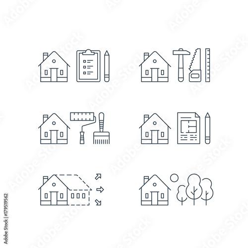 Fotografía  Real estate development, house renovation, home improvement, paint services, con