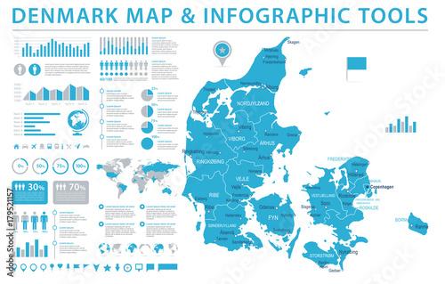Austria Map - Info Graphic Vector Illustration Canvas Print