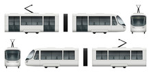 White Tram Vector Mock-up For ...