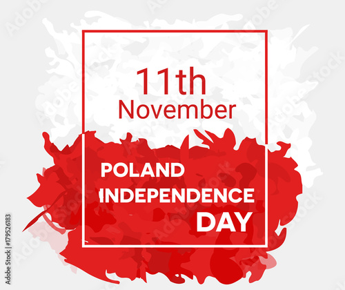 Fotografia Poland independence day abstract background design coupon banner and flyer vecto