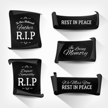 Funeral Rest In Peace Banners