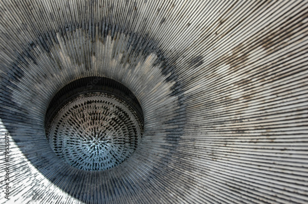 Fototapety, obrazy: Looking up the exhaust port of a Redstone Rocket.  Cold War relic.