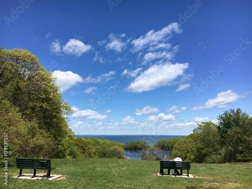 Photo Caumsett State Park Overlooking Long Island Sound in LLoyd Harbor, New York