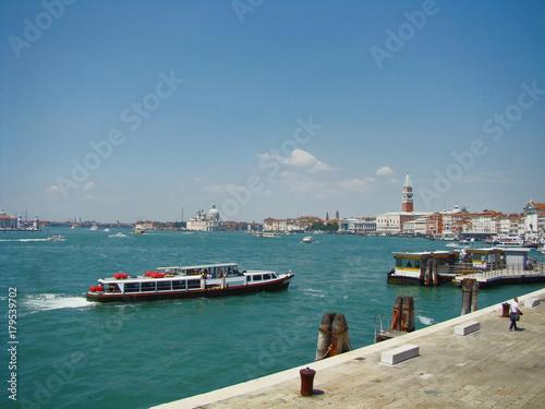 Fototapeta A view of Venice lagoon, Italy obraz na płótnie
