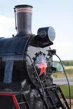 Front Locomotive View. Close-up
