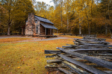 Autumn At The John Oliver Cabin