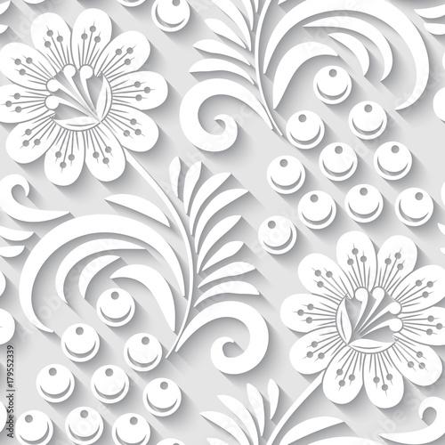 elegancki-3d-bezszwowy-kwiecisty-wzor-ilustracja-wektorowa