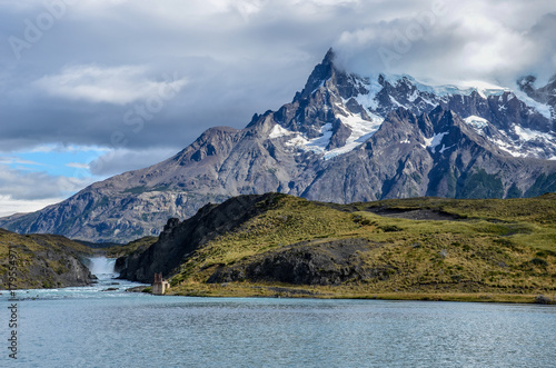 Fotografie, Obraz  Lago Pehoe and Torres del Paine national park in Chile, Patagonia
