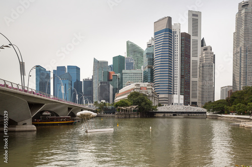 Photo Stands Sydney The Financial District and cityscape along Singapore River