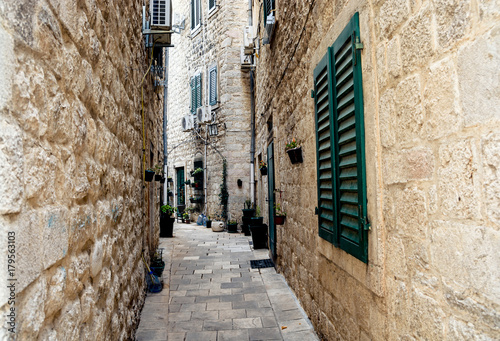 Narrow streets of the old stone city