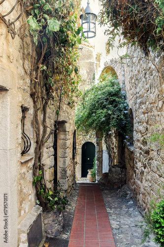 Canvas Prints Narrow alley old buildings in Eze village france