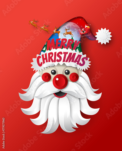Christmas Celebration Cartoon Images.Santa Claus Cartoon Character And Santa Claus Drives In