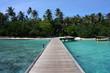 Paesaggio isola maldiviana
