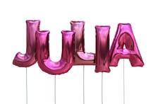 Luftballons Name Julia