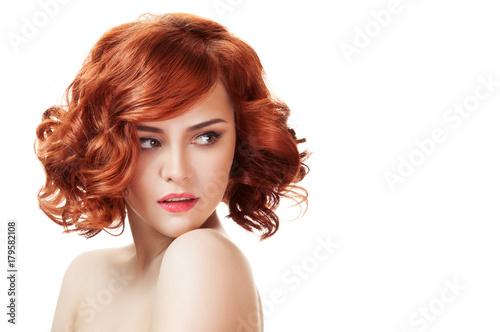 Wallpaper Mural Ginger beautiful woman