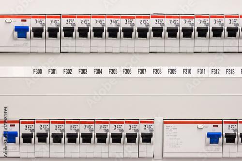 Sicherung Strom Schalter - Buy this stock photo and explore similar ...