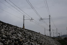 Electric Wires On The Railroad