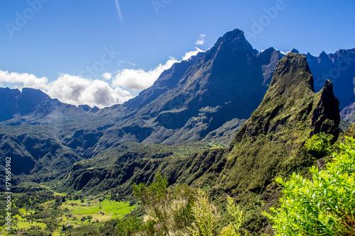 Ingelijste posters Eiland Cirque de Mafate in La Reunion island
