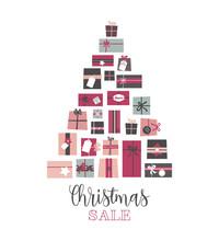 Christmas Sale. Pile Of Presen...