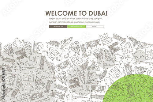 Photo  Dubai Doodle Website Template Design