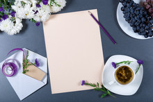 Sheet Of Beige Paper, White An...