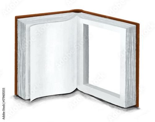 Fotografie, Obraz  Libro abierto. Ventana a la imaginacion