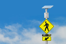 Crosswalk Sign And Solar Power...