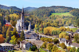 Panorama of Lourdes - city in France famouse due to the Marian apparitions