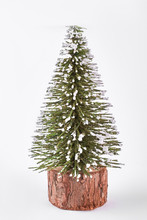 Miniature Christmas Tree On Wh...