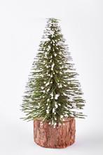 Miniature Christmas Tree On Wh...