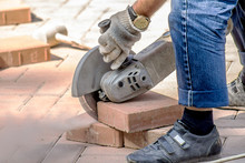 Cutting Paving Tiles With Elec...