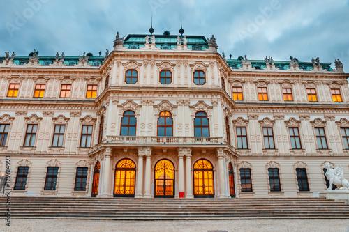 Zdjęcie XXL Zachód słońca nad Belweder w Wiedniu, Austria