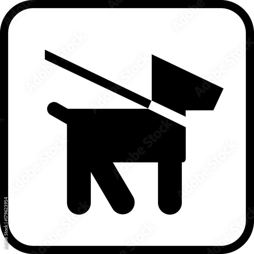 Dogs on leash area icon. Keep your pet on a leash. Wallpaper Mural