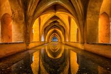 Baths Of Dona Maria Padilla At The Royal Alcazar In Seville, Andalusia, Spain.