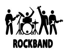 Rock Band Simple Illustration