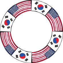 USA And SOUTH KOREA Flags Or B...