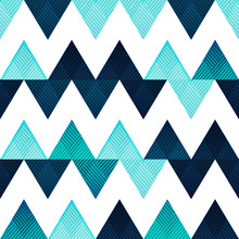 Blue Zigzag Seamless Pattern