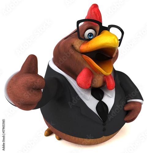 Slika na platnu Fun chicken - 3D Illustration