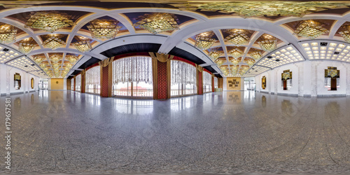 Papiers peints Opera, Theatre Panorama in interior of a huge empty banquet hall. Full 360 by 180 degree seamless spherical panorama in equirectangular equidistant projection
