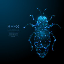 Abstract Image Of A Bee In The...