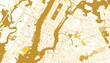 New York City Golden Map.