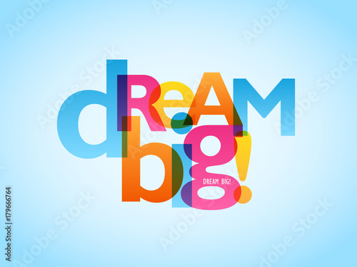 plakat-dream-big-typografia