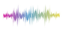 Color Sound Wave Sign. Vector ...