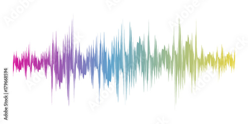 Fotomural  Color sound wave sign. Vector illustration.