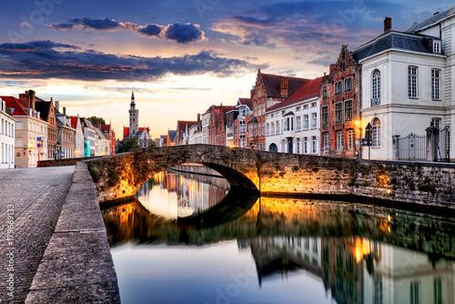 Deurstickers Brugge Bruges cityscape, Belgium