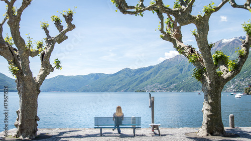 Fotografie, Obraz City of Locarno with a view of lake Maggiore, Ticino, Switzerland