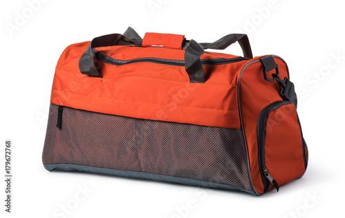 travel bag on a white background Billede på lærred