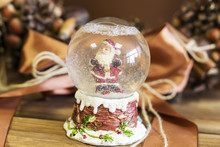 Santa Claus In A Glass Ball